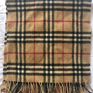 Vintage Burberry Nova Check Lambswool Scarf